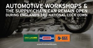 AUTOMOTIVE WORKSHOPS & THE SUPPLY CHAIN CAN REMAIN OPEN DURING ENGLAND'S 3RD LOCK DOWN